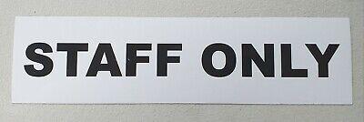 Toilet Office Staff Only 20cm x 5cm Sign Vinyl Sticker