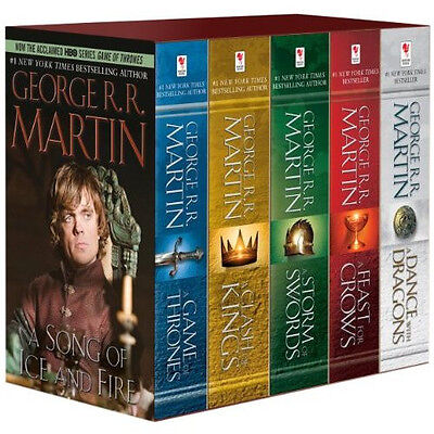 George R. R. Martin's A Game of Thrones 5-Book Boxed Set NEW