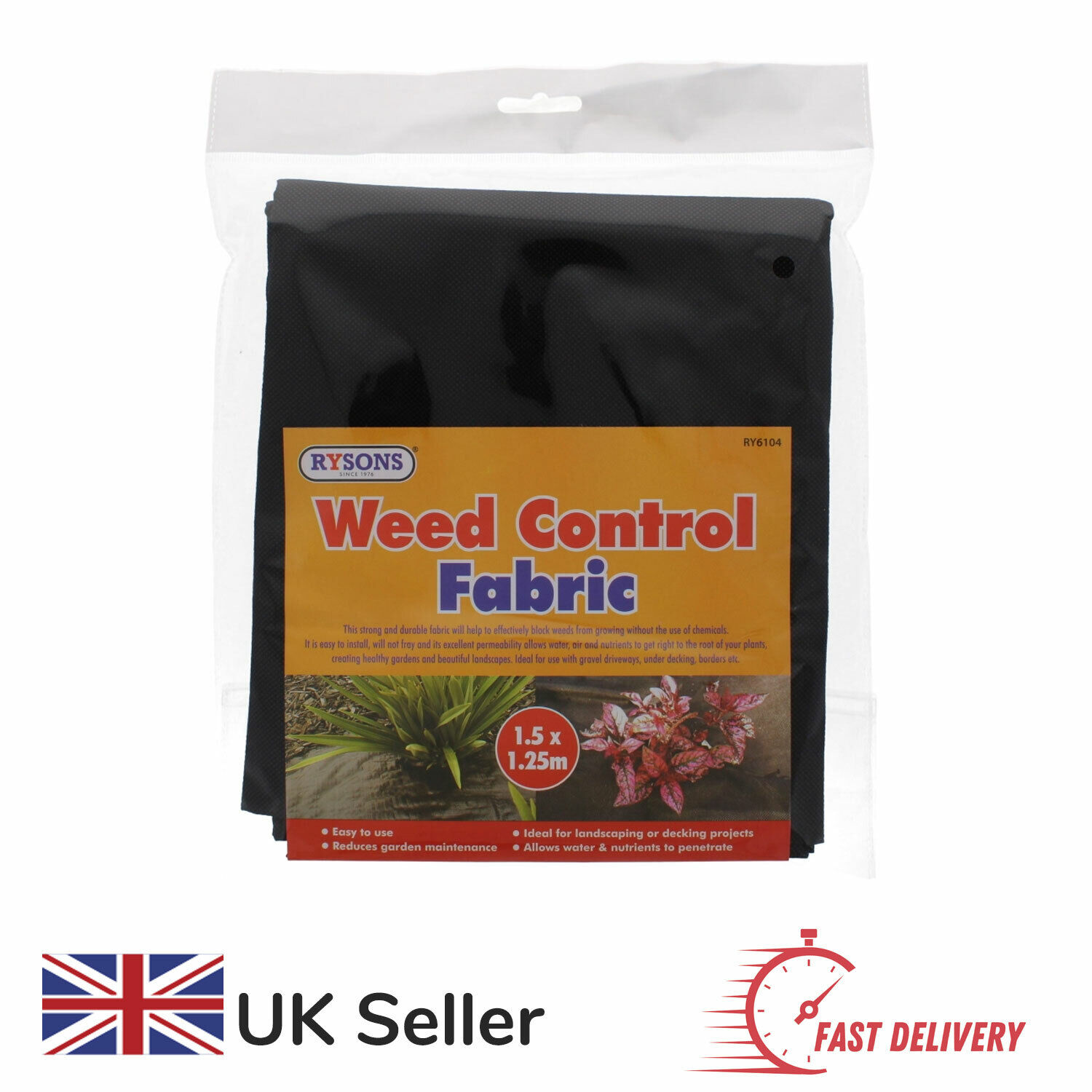 Weed Barrier Fabric Weed Control Sheet Cloth Stop Weeds Growing