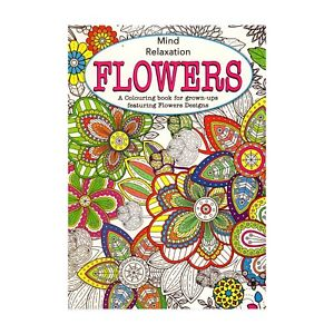 Martello-Adult-Colouring-Books-Pattern-Flowers-Relaxation-Anti-Stress-Relief-Art