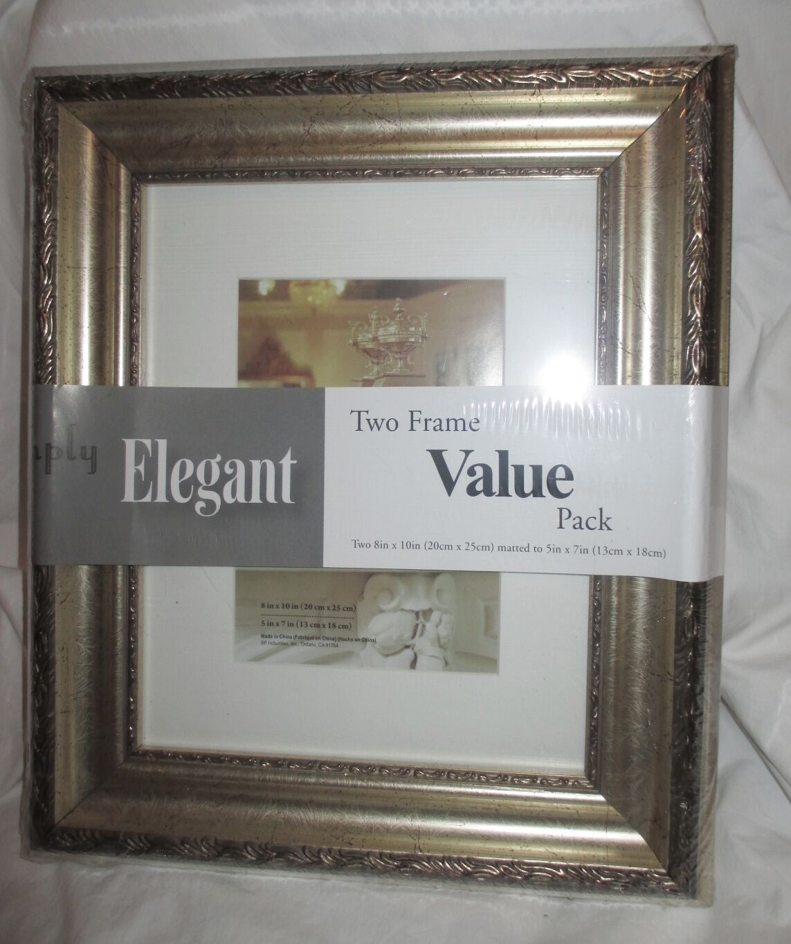 New 2 Simply Elegant Picture Frames Champagne 5x7 8x10 Kmart Bp Industries