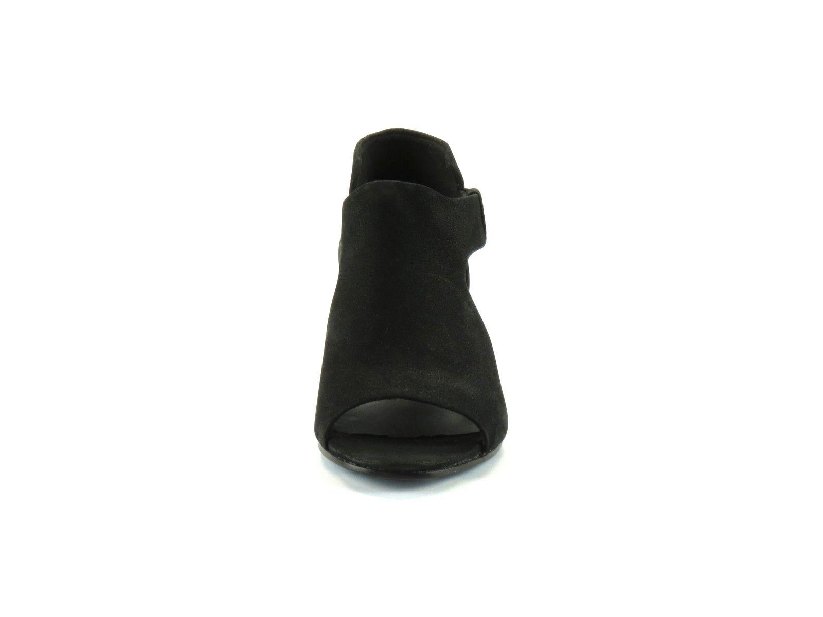 Eileen Fisher Iris nero Tumbled Nubuck Nubuck Nubuck Leather Stacked Heel Open Toe Sandal 6 7f61ea