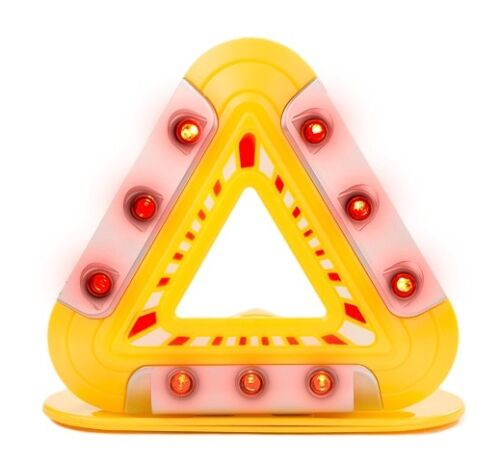 Clignotant urgence Triangle-Lumières DEL triangle avertissement avec base magnétique