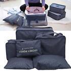 6Pcs Set Navy Star Travel Luggage Storage Bag Clothing Tidy Package Organizer