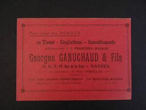 Carte De Visite Visit Card CDV NANTES GANUCHAUD