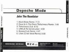 Depeche Mode: John The Revelator PROMO MUSIC AUDIO CD 6 Remixes Murk Mode Dave +