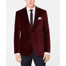 Bar Ill Velvet Slim Fit Sport Coat Burgundy Size 42s Nwt