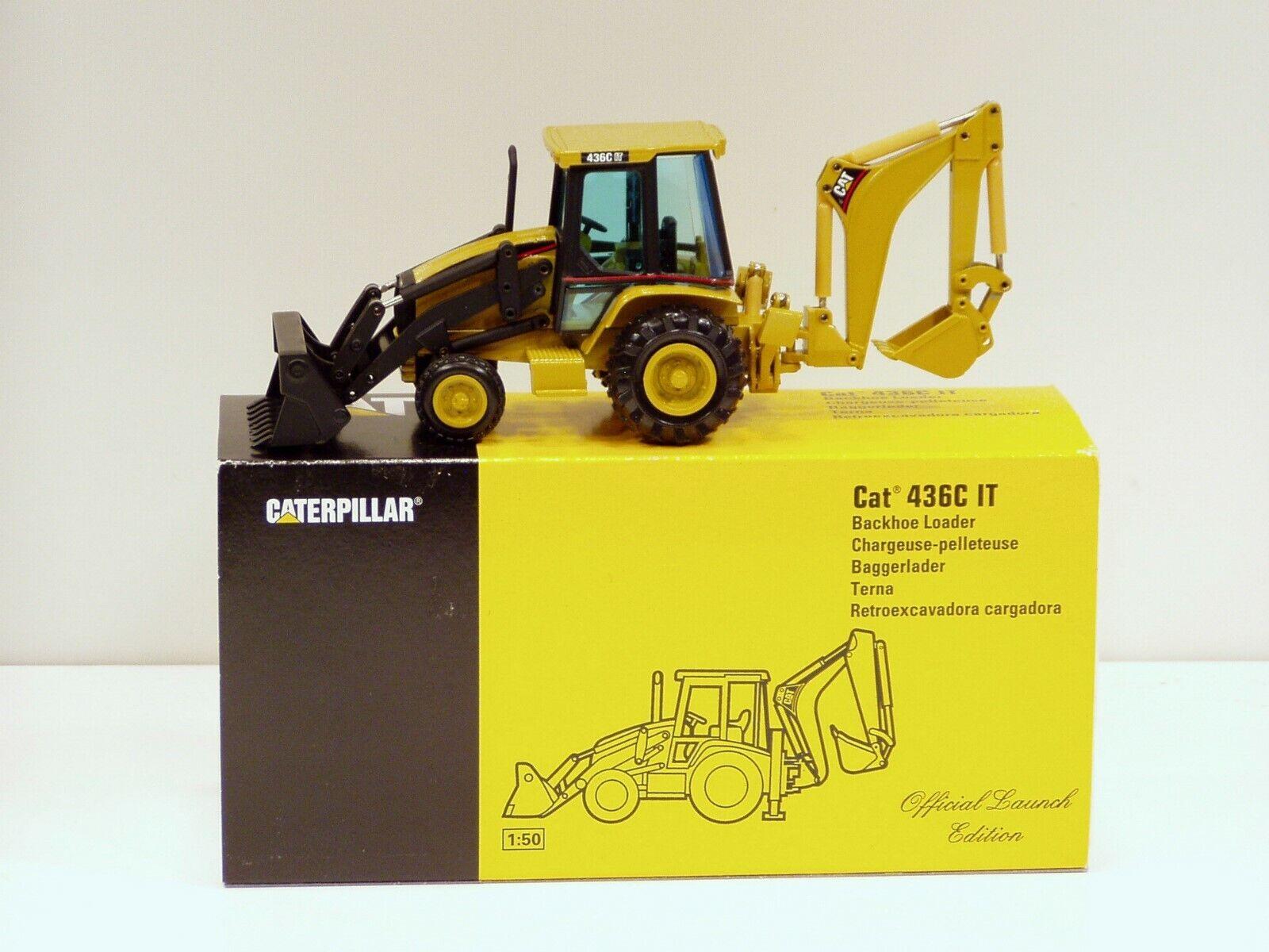Caterpillar 436CIT chargeuse -  Lancement Edition  - 1 50 - NZG  429 - En parfait état, dans sa boîte
