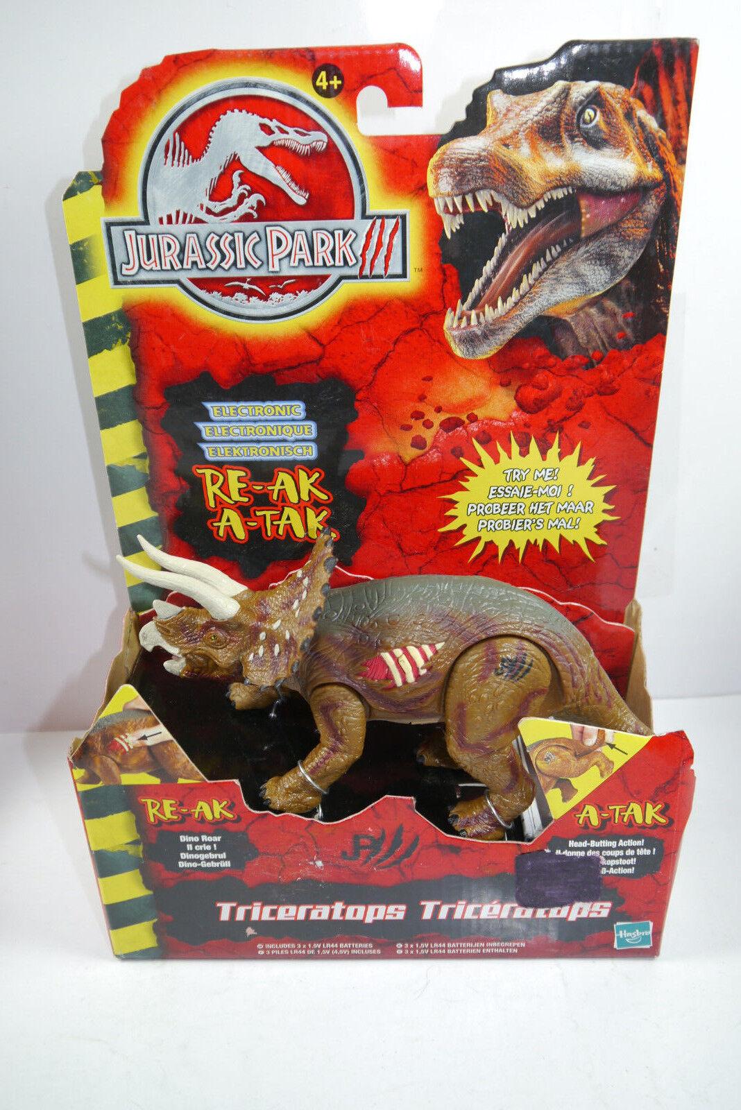 Jurassic Park III Electonic Triceratops Aprox. 20cm Nuevo Emb. Orig. Hasbro (L)