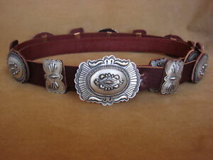 Native-American-Jewelry-Sterling-Silver-Concho-Belt-Eugene-Charley