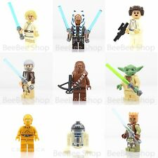 9 pcs Luke Skywalker Leia Yoda Asoka C3PO R2D2 Star Wars Custom Minifigure lego