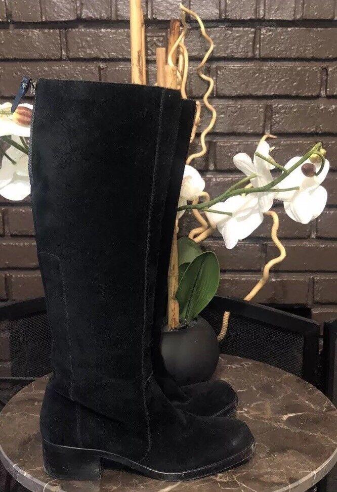 Via Spiga para para para mujer botas altas (5.5 Negro Gamuza) excelente condición usada  295  autentico en linea