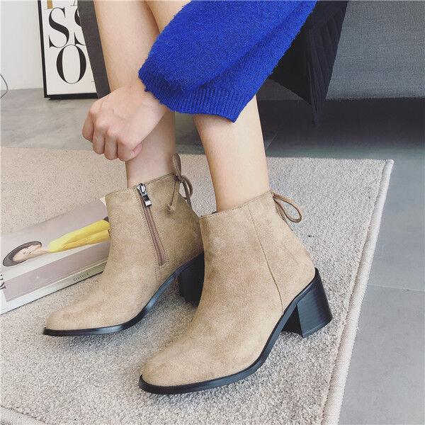 Bottes basses chaussures rangers 4 cm beige élégant comme cuir 9516