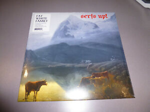 The-Fat-White-Family-SERF-039-S-UP-LP-ltd-edit-gold-Vinyl-Poster-NEU-amp-OVP