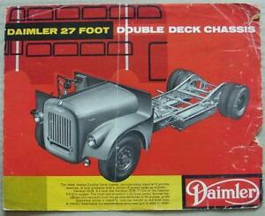 DAIMLER 27 FOOT DOUBLE DECK CHASSIS Bus Sales Brochure 1957 #377/57