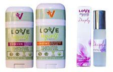 2 Deodorants FOREVER & LONGTIME Love Myself Organics with Deeply 10ml Perfume