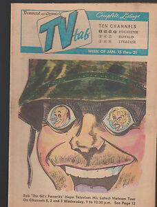 Details about Democrat & Chronicle TV Tab January 15 1967 Bob Hope in  Vietnam Tour