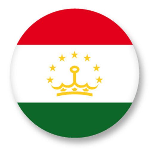 Magnet Aimant Frigo Ø38mm Drapeau Flag Tadjikistan Asie Douchanbé