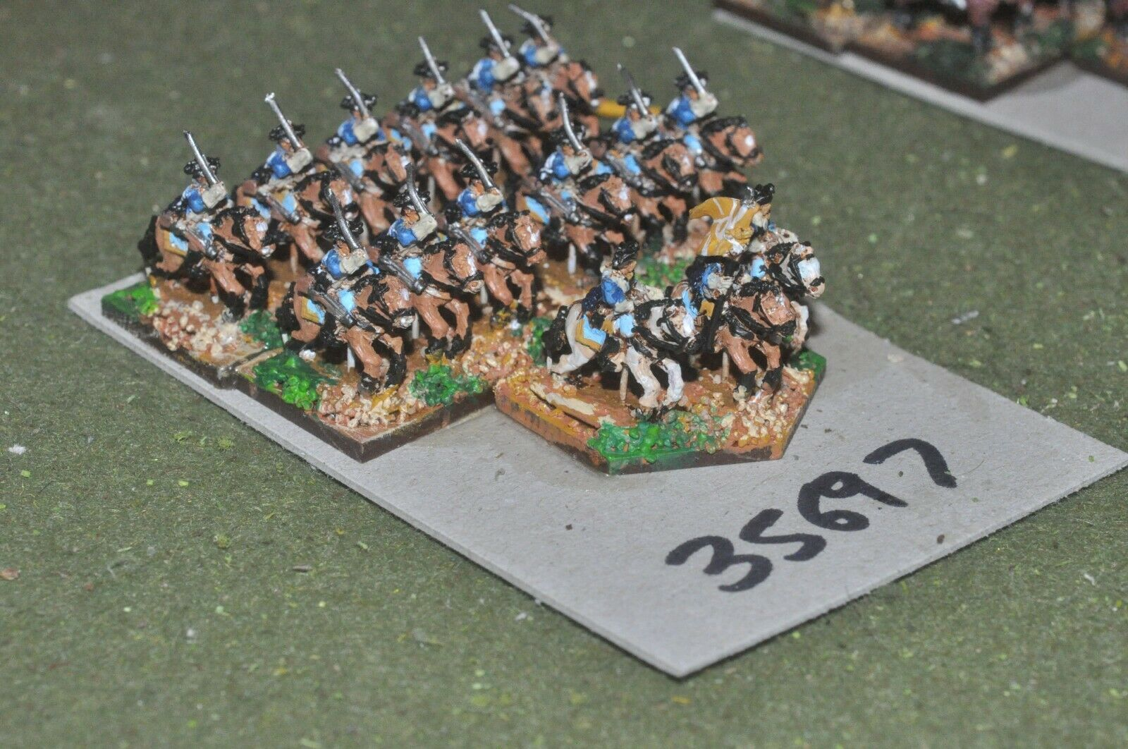 10mm 7YW   prussian - dragoons 15 figures - cav (35697)