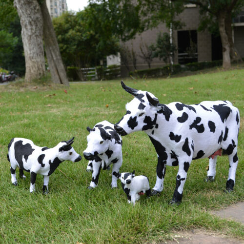 Realistic Cow Educational Farm Animal Model Dairy Grocery Ads Display Photo Prop