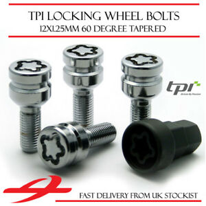 Premium Locking Wheel Bolts 12x1.25 Nuts Tapered For Peugeot Expert Tepee 07-17