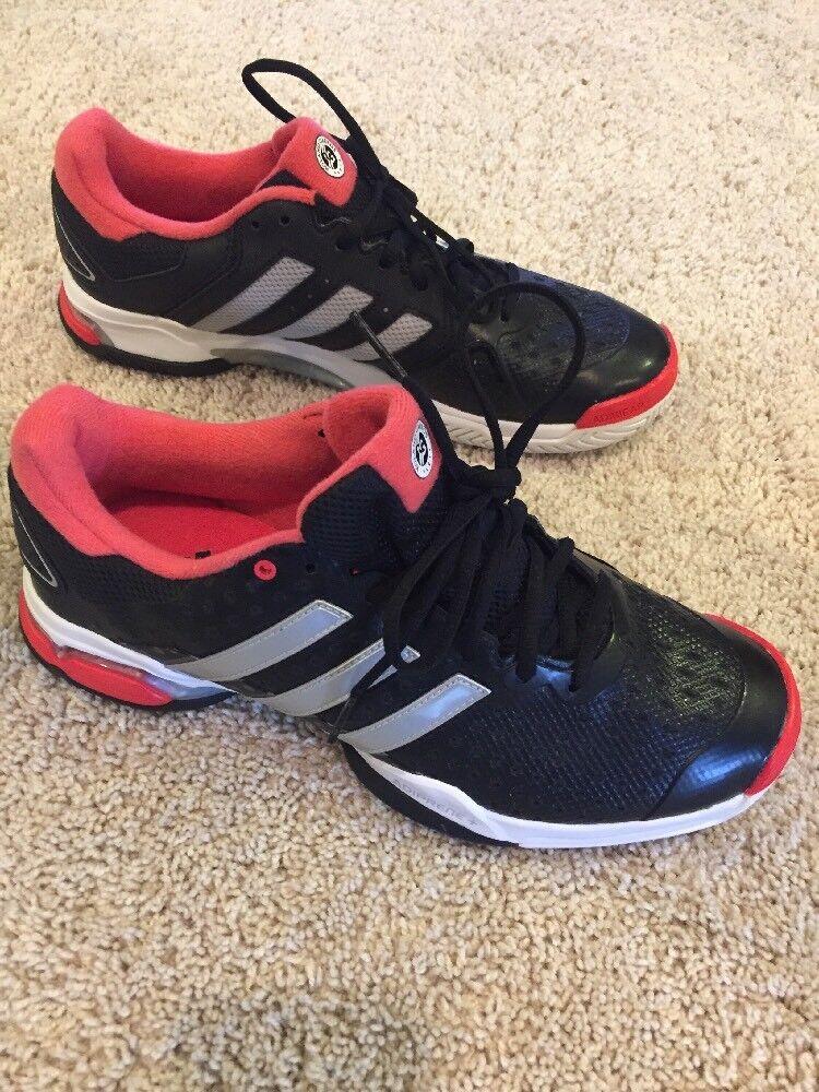 adidas roland garros Tennis Shoes Size 9.5 Black/red/silver