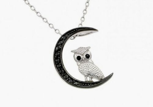 925 STERLING SILVER LADIES OWLPENDANT NECKLACE //18/'/' LONG STP 01386