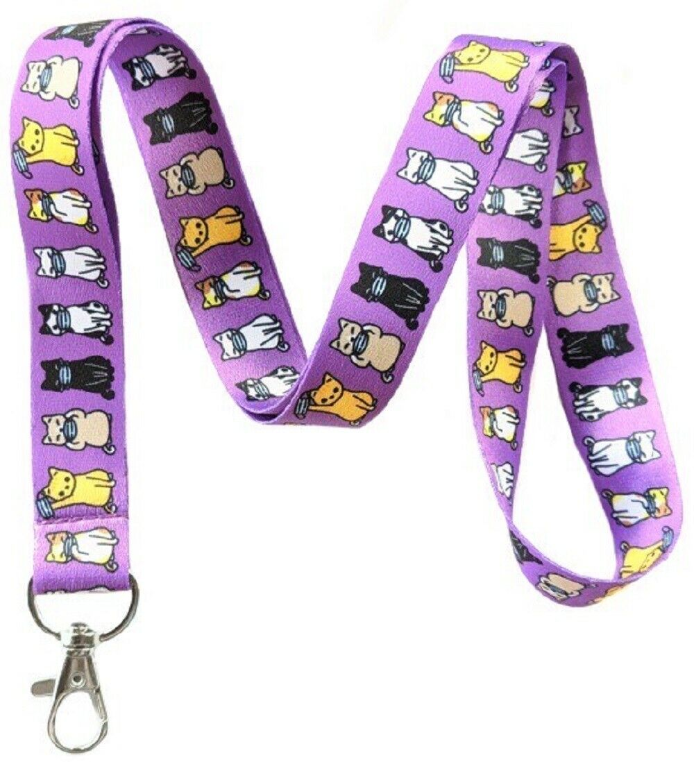 Cat Lanyard Id Badge Holder Keychain By Execucat
