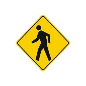 pedestrian crossing sign municipal grade d o t street parking road