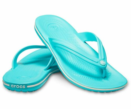 CROCS Crocband FLIP Beach Shoes  Crocband Pool //White Pink //White Black vvhcfxdA