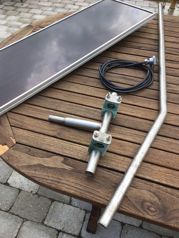 Solpanel til båd 12 V med div. montering og kab...