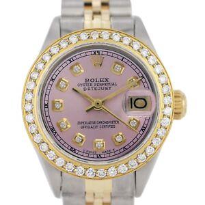 Authentic-Rolex-Datejust-6917-18k-Yellow-Gold-Ladies-Watch