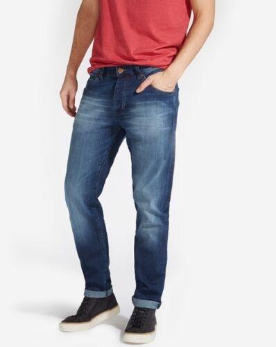 Wrangler Boyton Fit Faded Denim Tapered Men Jeans Authentic Blaze Blue