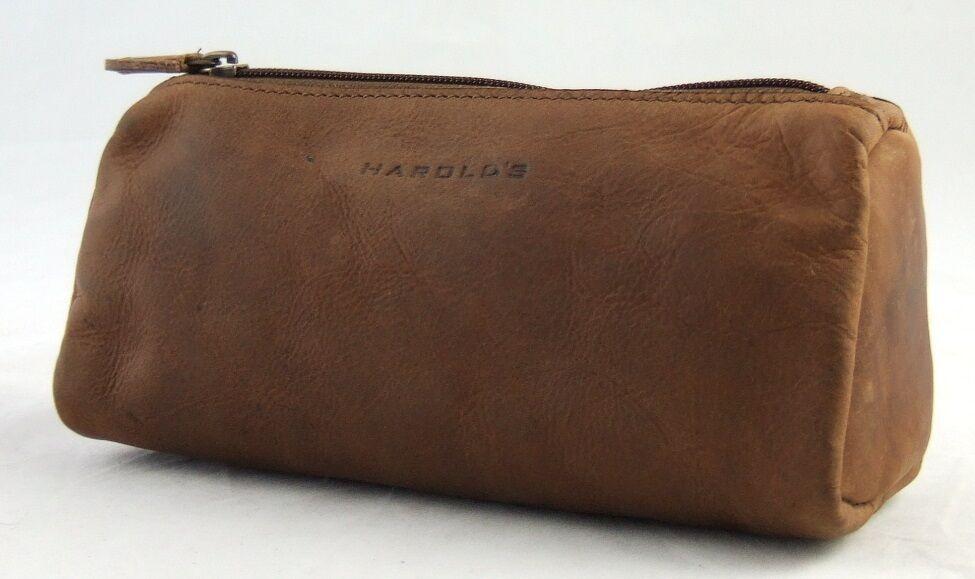 Harold's Schlampermäppchen XXL Rind-Leder Schlamperrolle Pencilcase Stiftrolle | Günstige Preise  | Roman  | Starker Wert