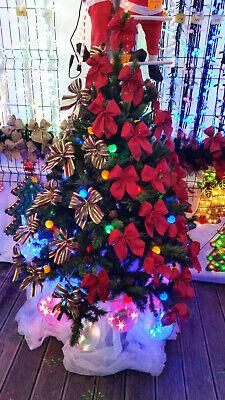 Christmas Tree Decorations Ribbon Bows