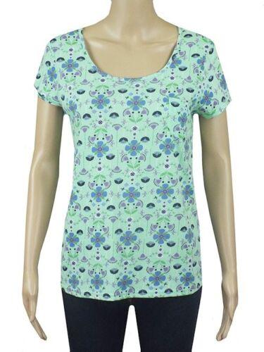 New Mantaray Debenhams Gorgeous 100/% Cotton Green Floral Top 8 12 14 16