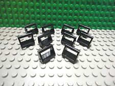 Lego 10 Black 1x2 plate tile with handle NEW
