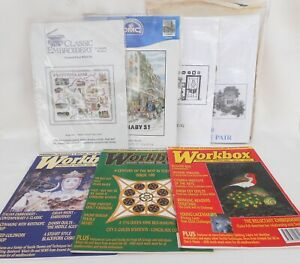 Cross-Stitch-Kits-Lot-4-Kits-3-Magazines-Westmorland-Carnaby-Street-etc