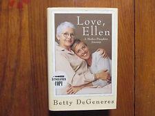 """BETTY DeGENERES(Ellen DeGeneres)Signed Book(""""LOVE ELLEN""""-1999 1st Edit. Hardback"""