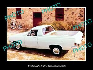 OLD-8x6-HISTORIC-PHOTO-OF-GMH-1965-HD-HOLDEN-UTE-LAUNCH-PRESS-PHOTO