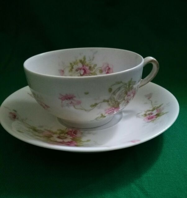 Antique Theodore Haviland China Limoges France Patent Applied For Tea Cup/Plate