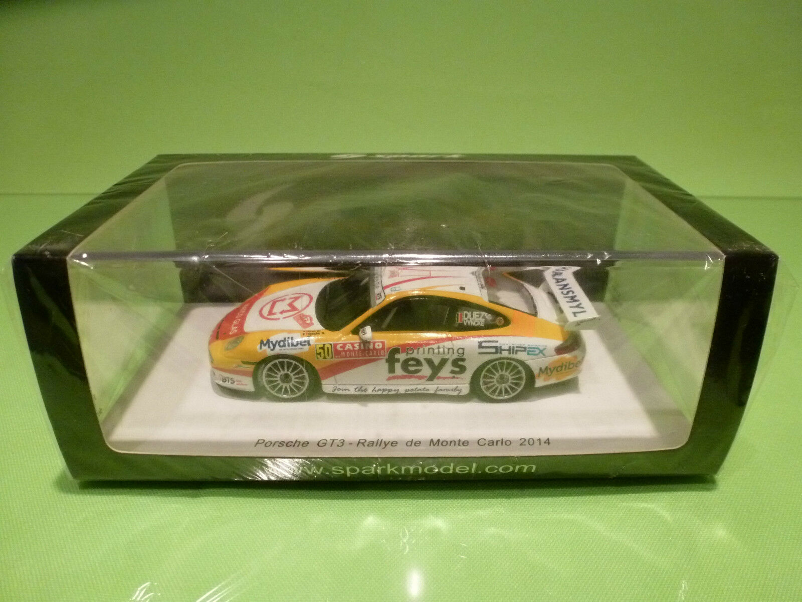 SPARK 1 43 PORSCHE GT3 RALLY MONTE CARLO 2014 - ORIGINAL BOX - IN MINT CONDITION