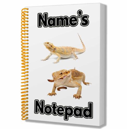 A5 Personalisiert Notebook Geburtstag Weihnachtsgeschenk Pet Reptilien Bartagame