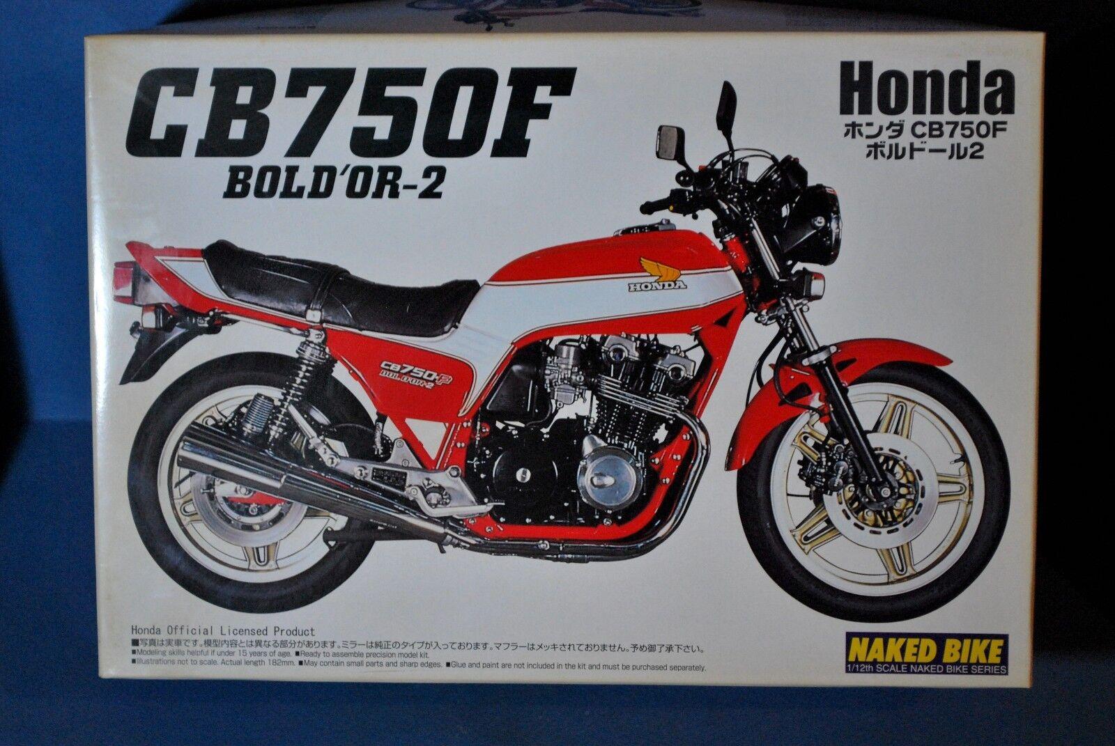 AOSHIMA JAPAN 1 12  HONDA CB750F BOLD OR-2.   VERY RARE KIT