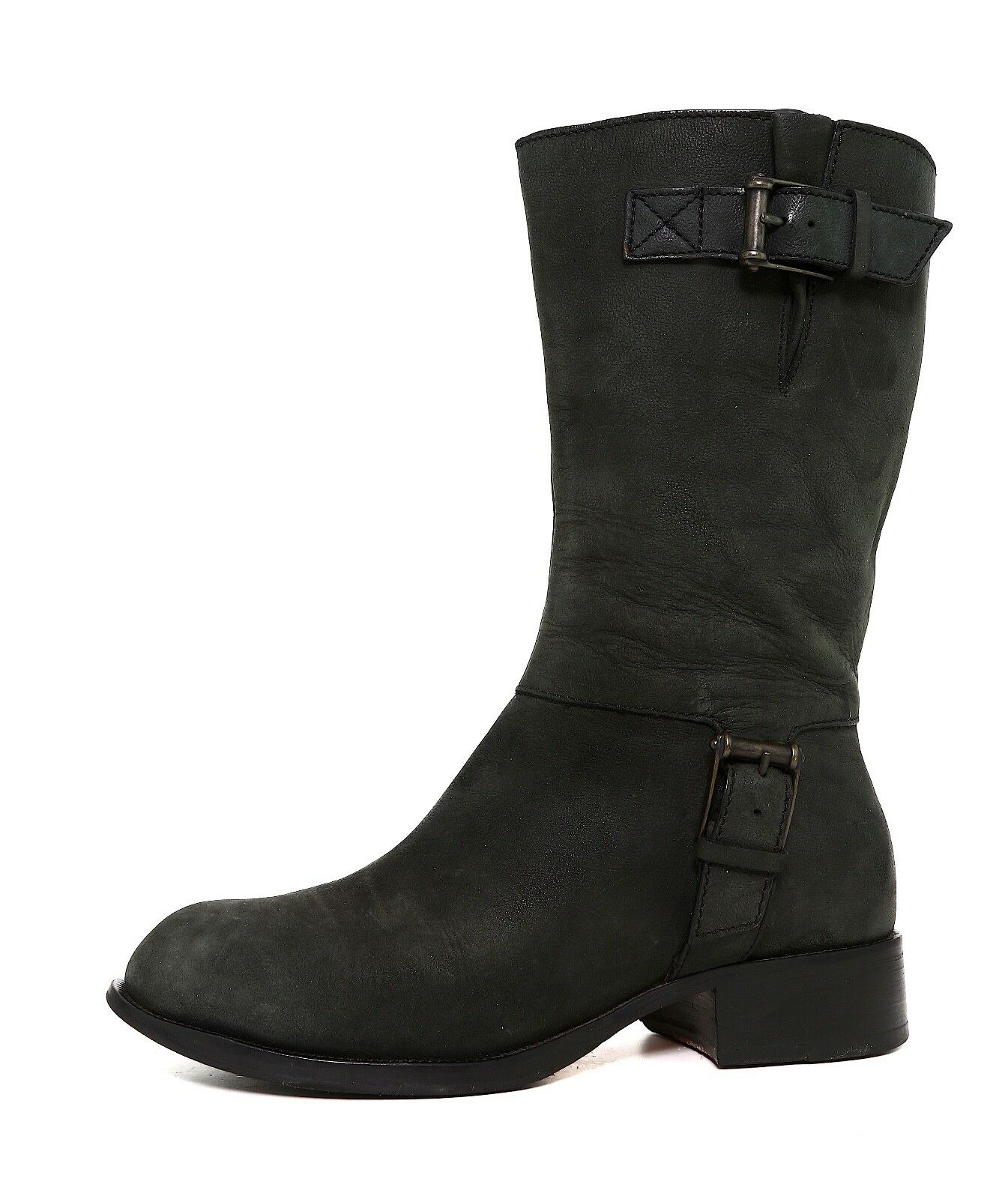 Cole Haan Air Leora Mid Calf Leather Boot Black Women Sz 7 B 5778 *
