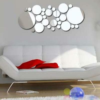 Novelty Home Office Removable 3D DIY Mirror Decals Art Wall Stickers Decor Y2