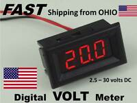 Car Audio System Voltmeter Dash Mount Snap In Digital