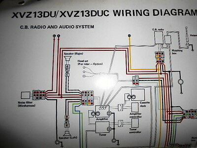 cb wiring diagram yamaha oem factory color wiring diagram schematic 1988 xvz13du cb 750 wiring diagram yamaha oem factory color wiring diagram