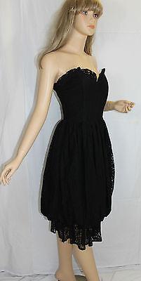 80er 80s Vintage Vestito Party Dress In Pizzo Lace Bubble Tulip Eggshape S 36-mostra Il Titolo Originale Valore Eccezionale