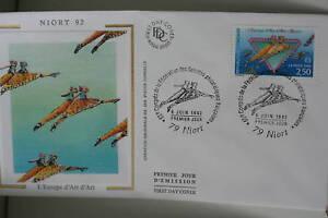 ENVELOPPE-PREMIER-JOUR-SOIE-1992-NIORT-D-039-ART-D-039-ART